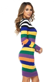 hot and delicious Multistripe Dress - Back cropped