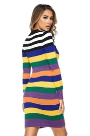hot and delicious Multistripe Dress - Front full body