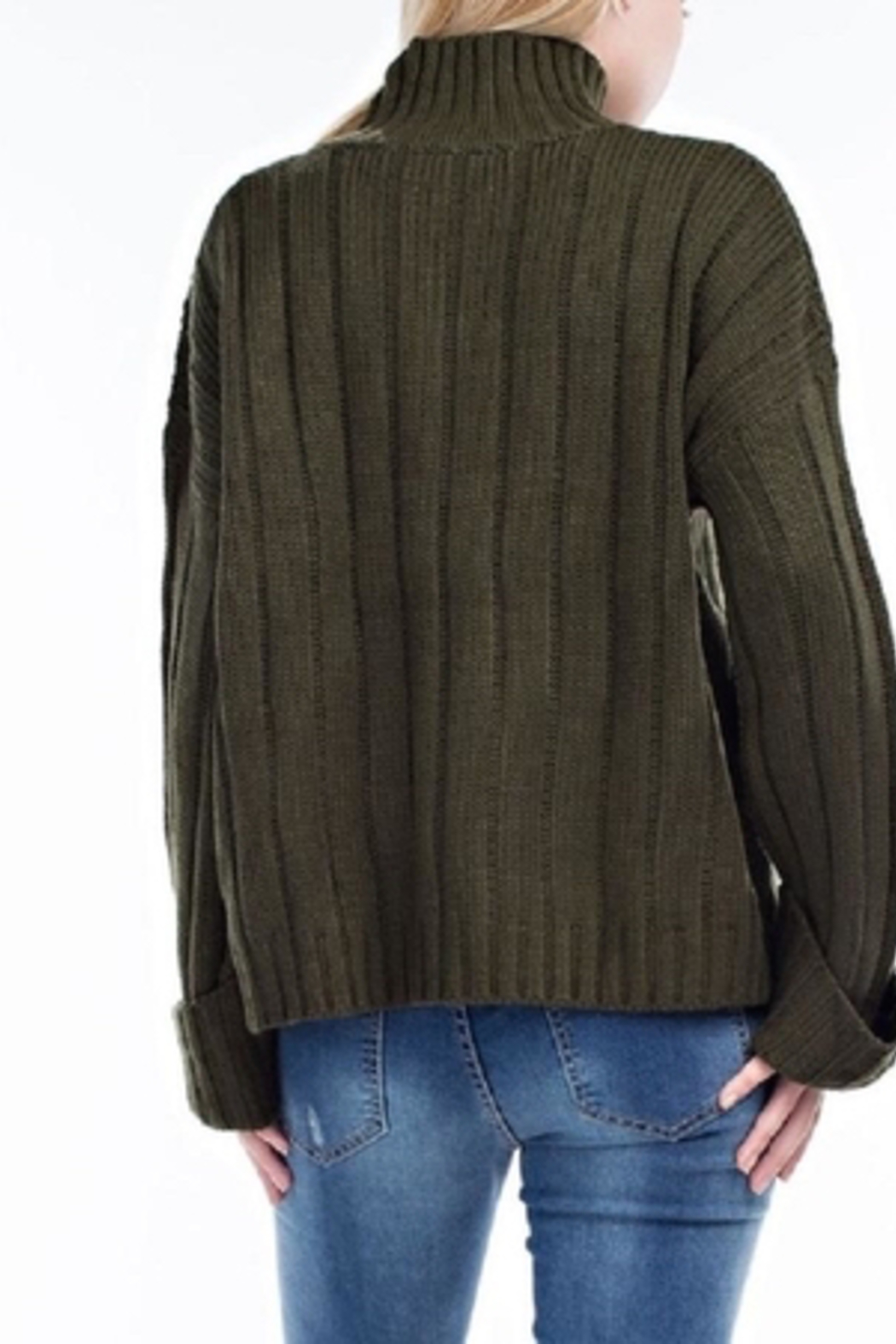 hot and delicious Oversized Chenille Sweater - Side Cropped Image