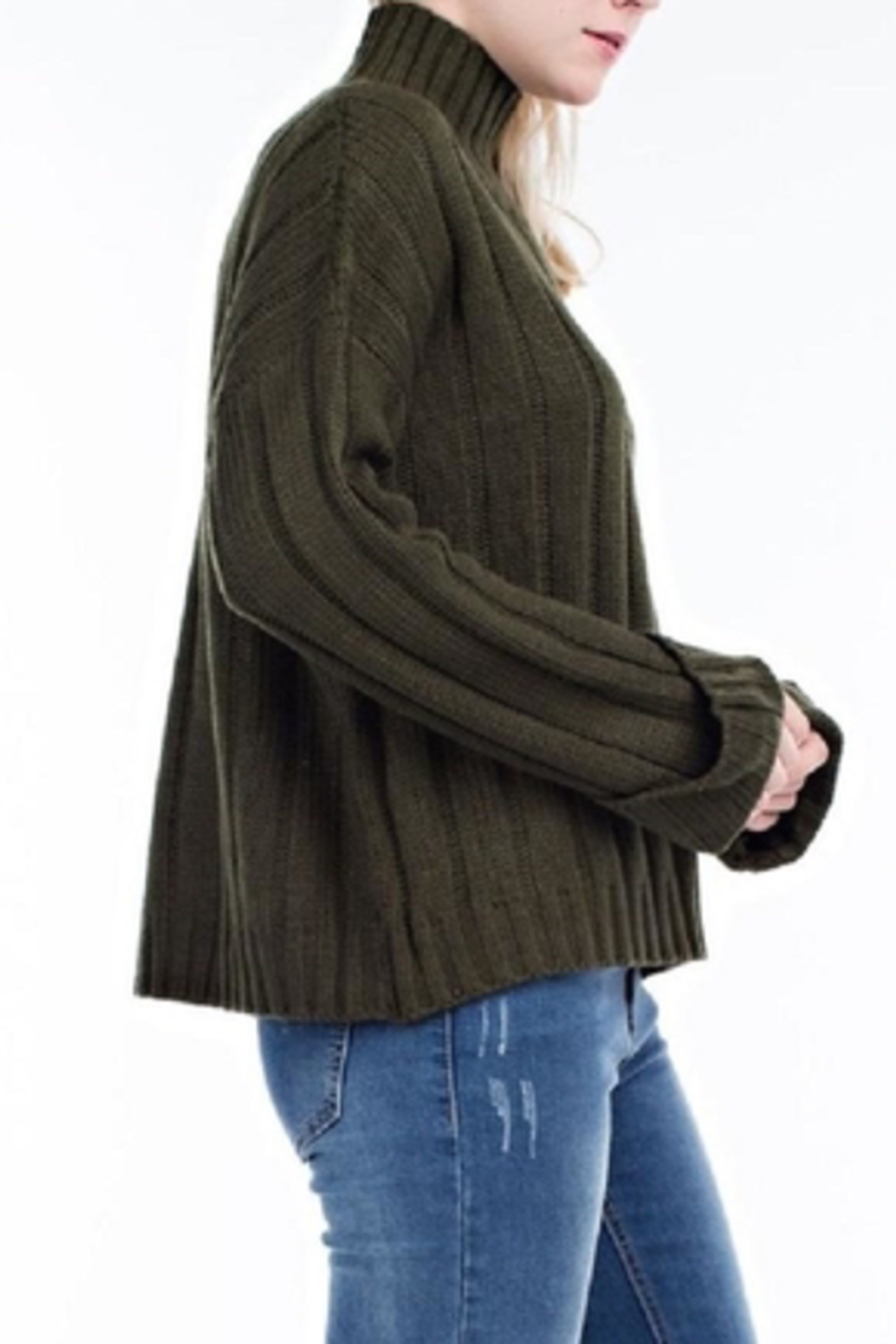 hot and delicious Oversized Chenille Sweater - Front Full Image