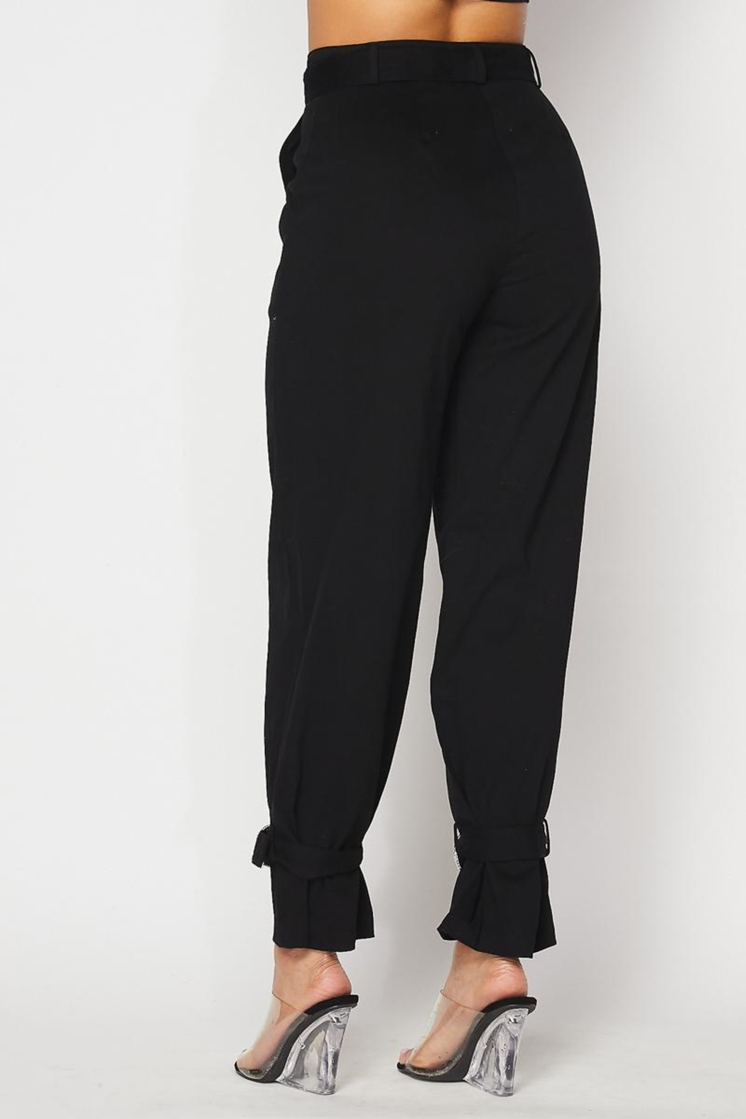 hot and delicious Rhinestone Detail Pants - Side Cropped Image
