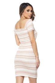 hot and delicious Stripe Bandage Dress - Side cropped