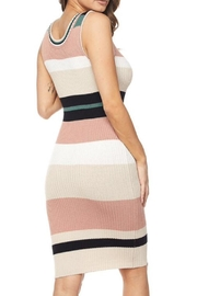 hot and delicious Striped Dress - Front full body