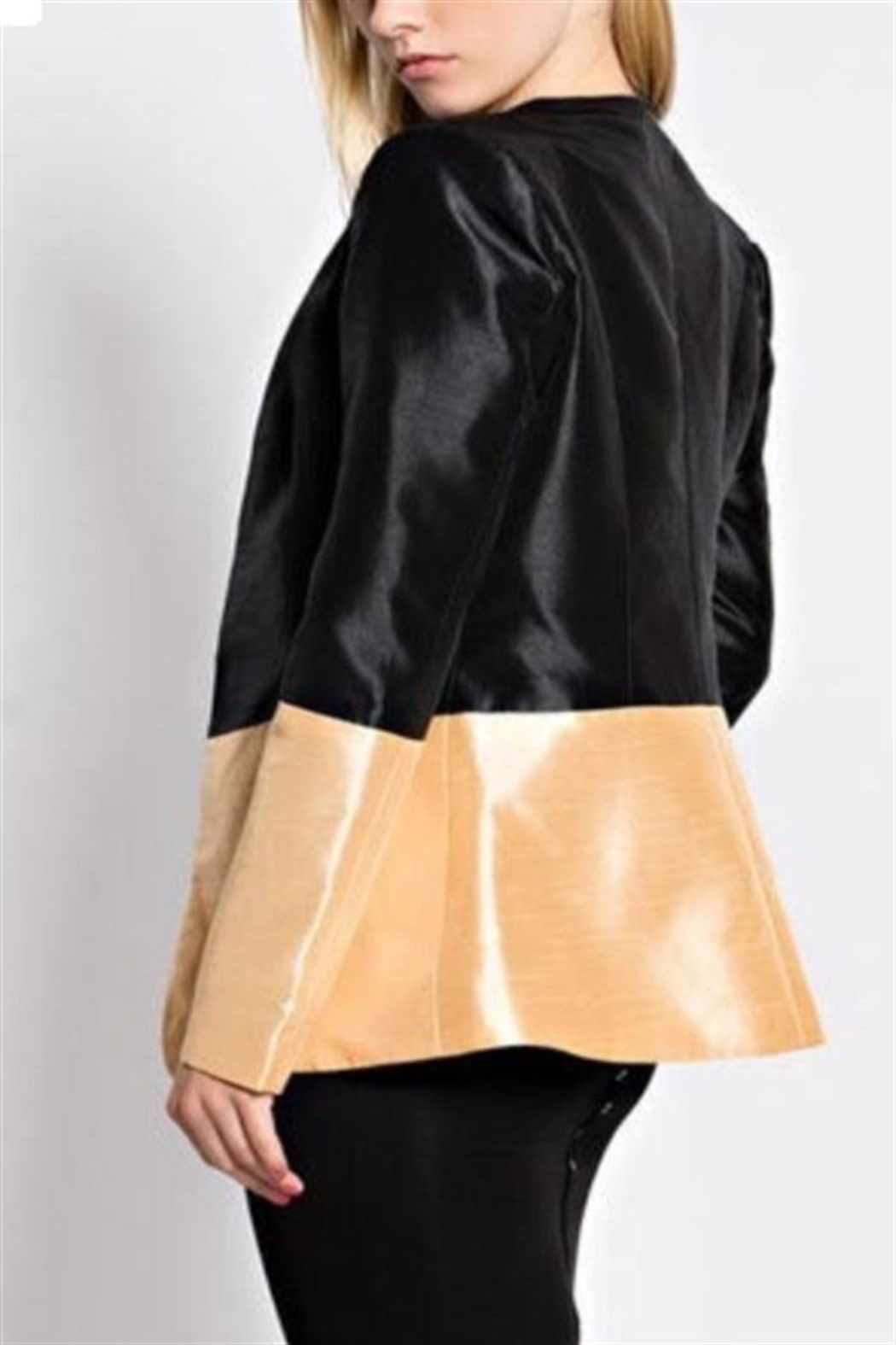 hot and delicious Two Tone Blazer - Front Full Image