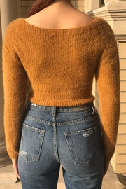 hot and delicious Wrap Crop Sweater - Side cropped