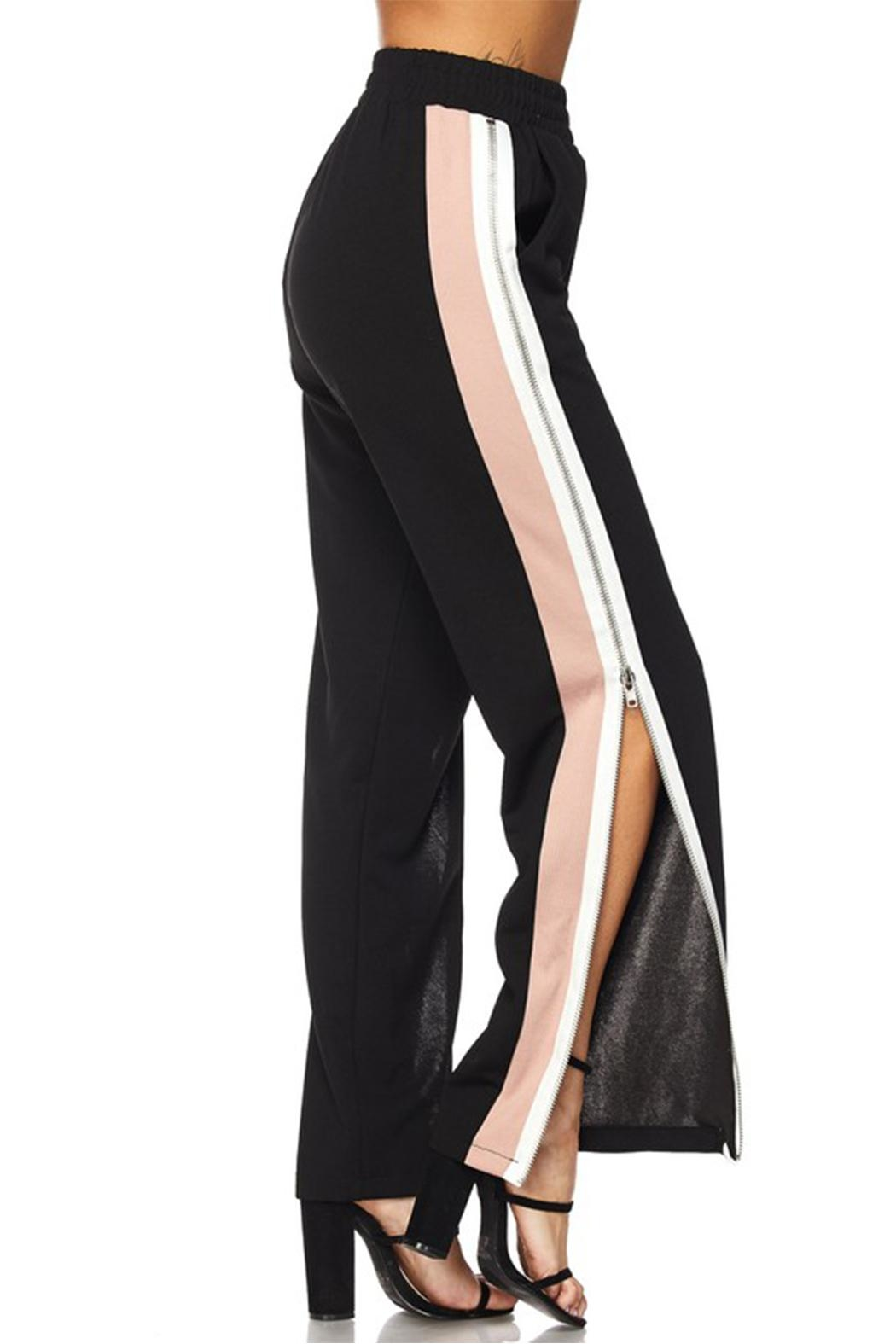 hot and delicious Zipper Track Pants - Side Cropped Image