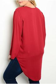 Hot Ginger Wine Wrap Top - Front full body