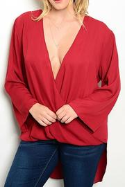 Hot Ginger Wine Wrap Top - Front cropped
