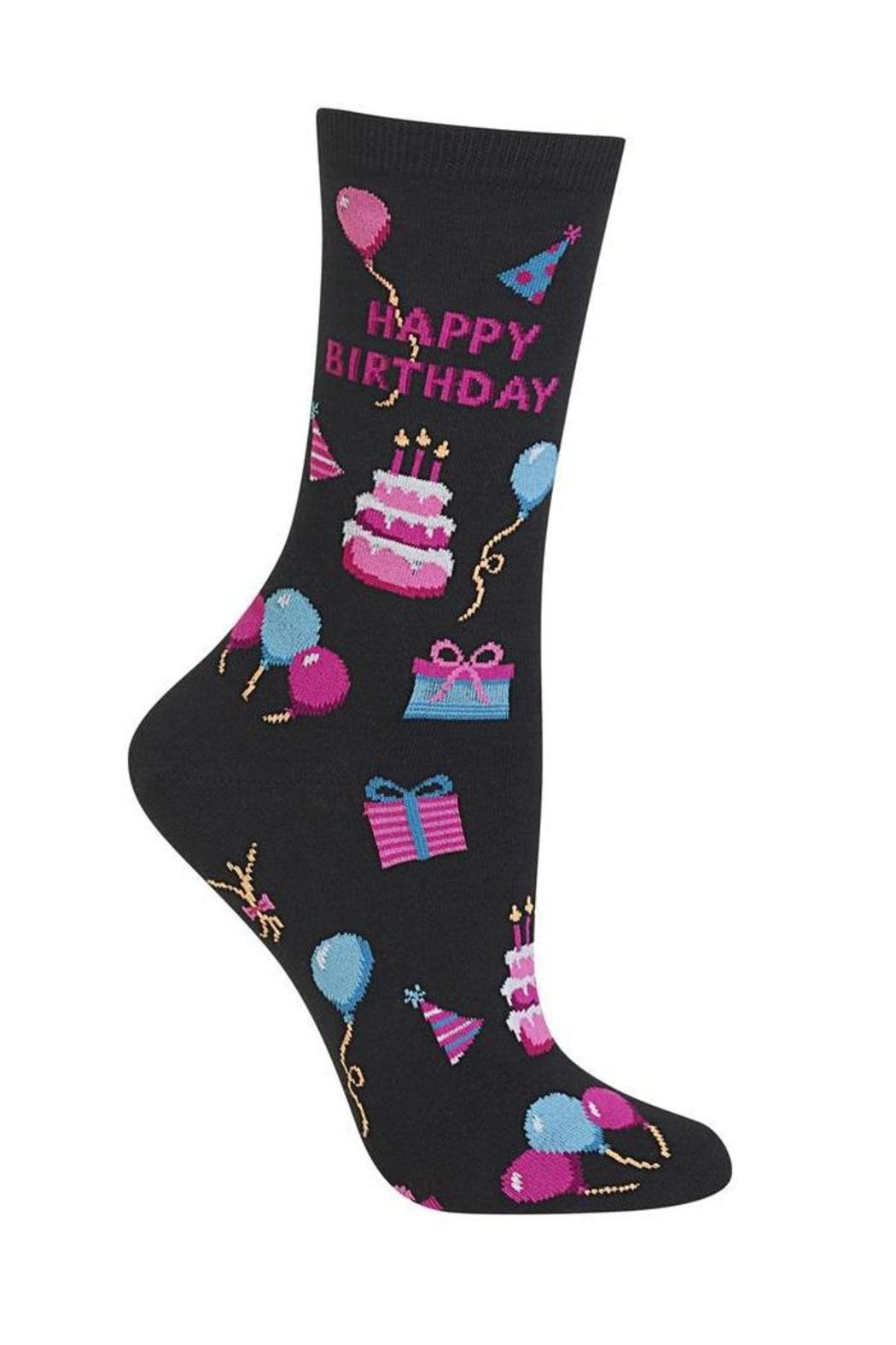 Hot Socks Happy Birthday Socks - Front Cropped Image