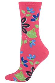 Hot Sox Flower Trouser Sock - Front cropped