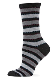 Hot Sox Ticking Stripe Sock - Product Mini Image