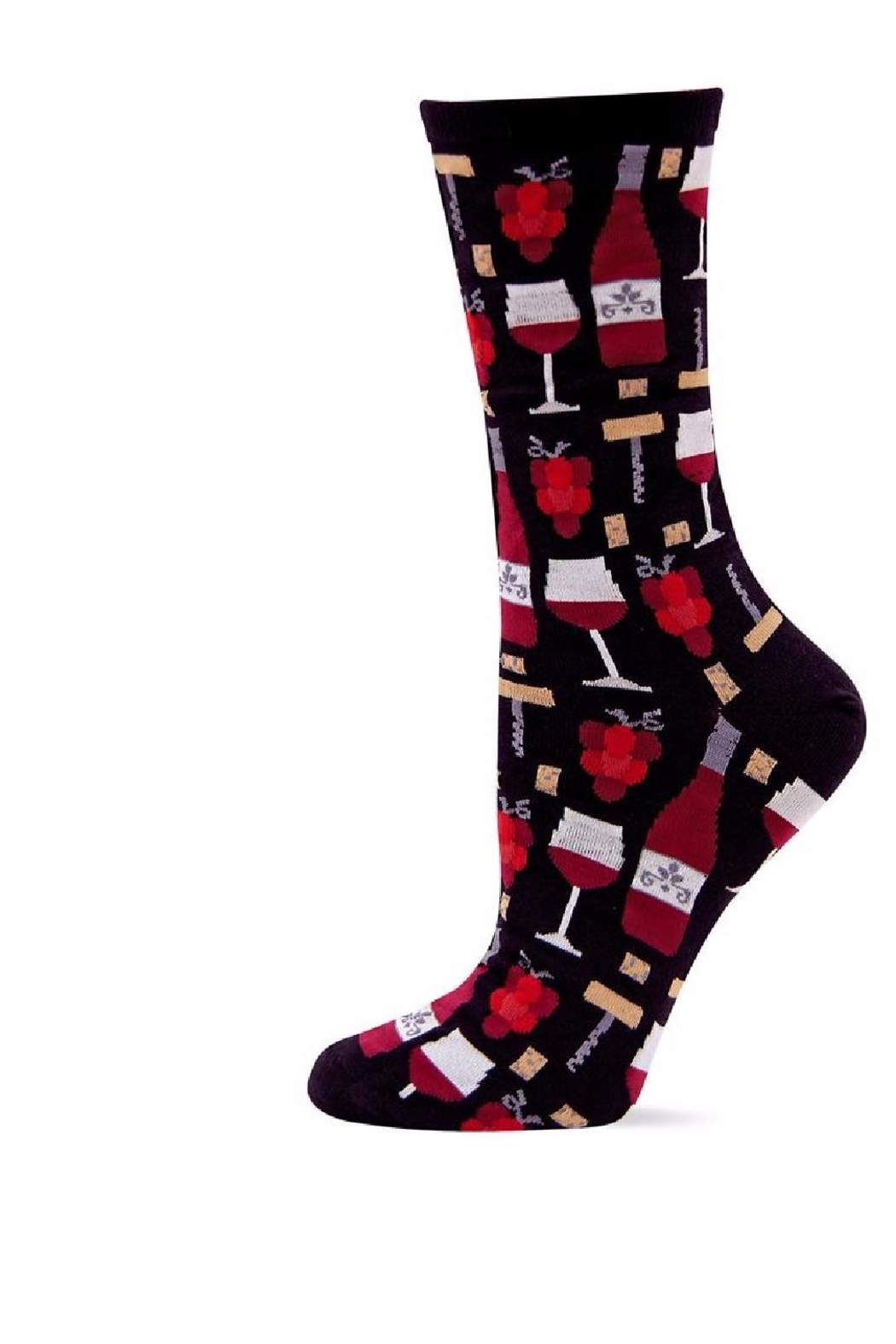 Hot Sox Wine Socks - Front Cropped Image