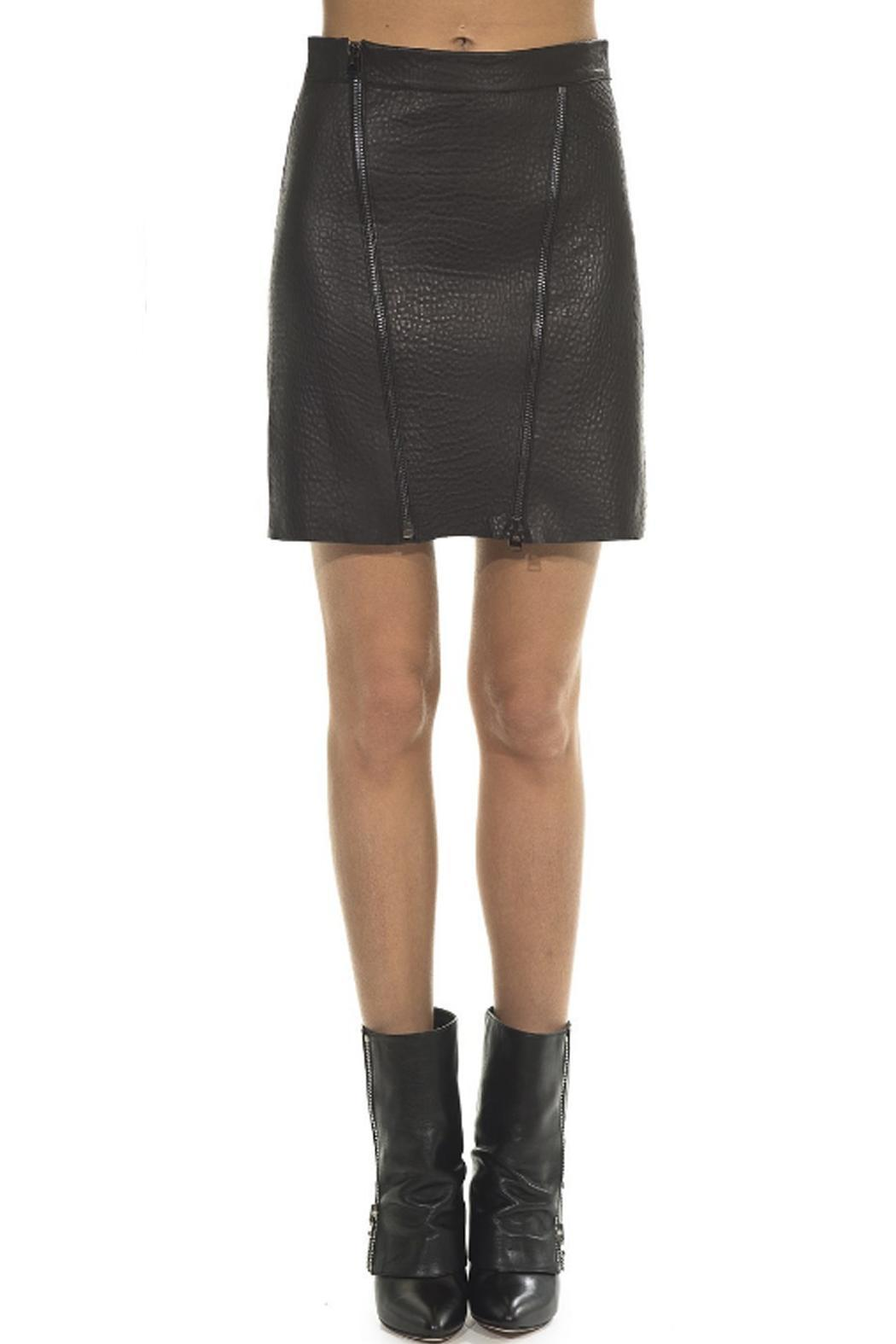 hotel particulier Black Leather Skirt - Main Image
