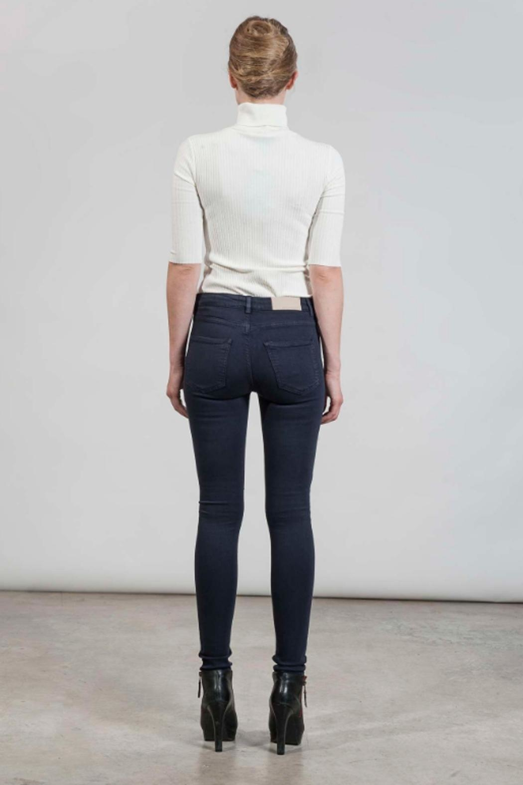 hotel particulier Blue Skinny Trousers - Side Cropped Image