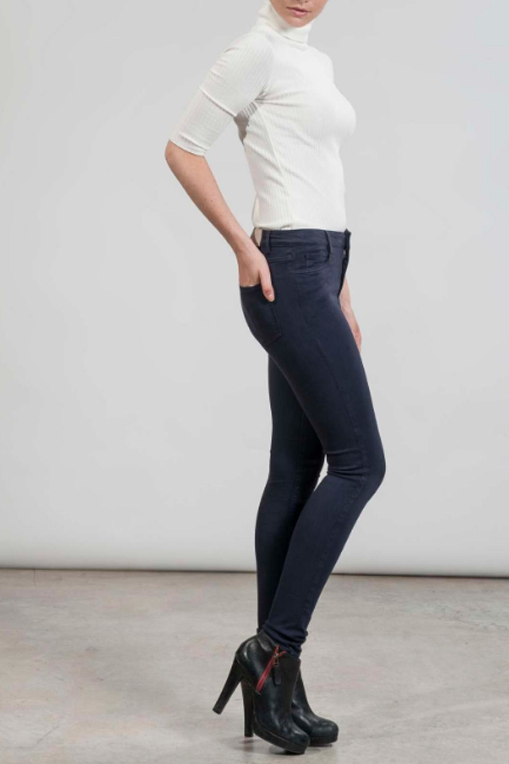hotel particulier Blue Skinny Trousers - Front Full Image