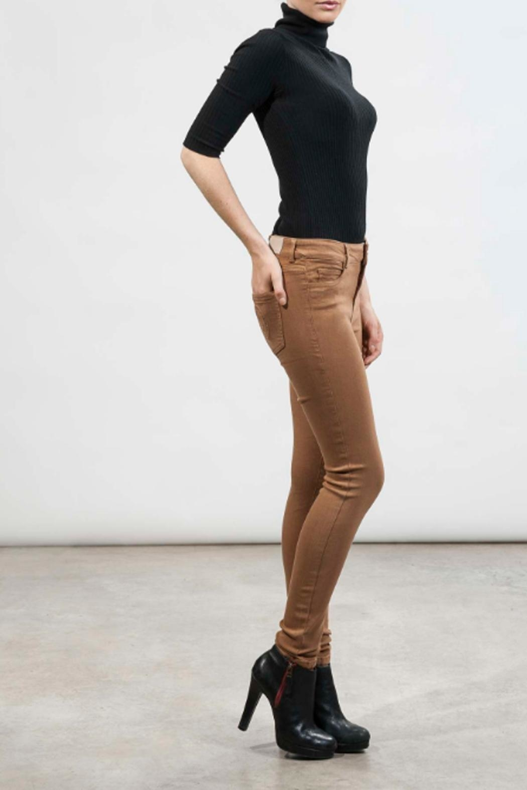 hotel particulier Camel Skinny Trousers - Front Full Image
