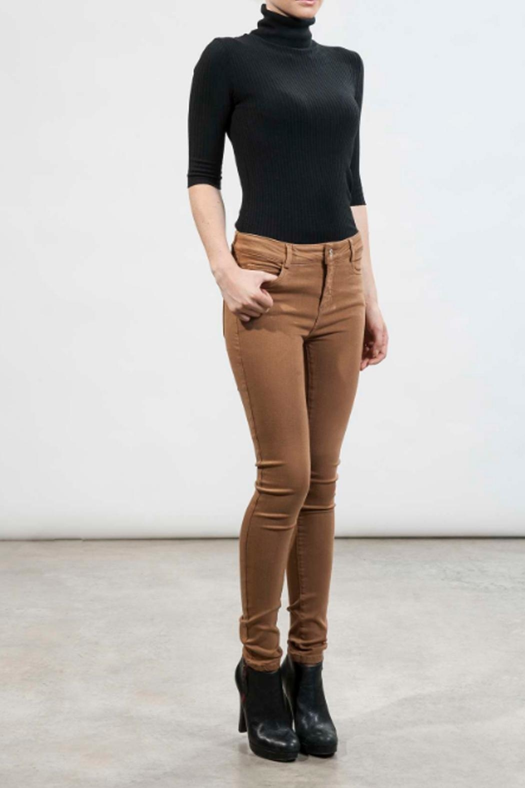 hotel particulier Camel Skinny Trousers - Main Image