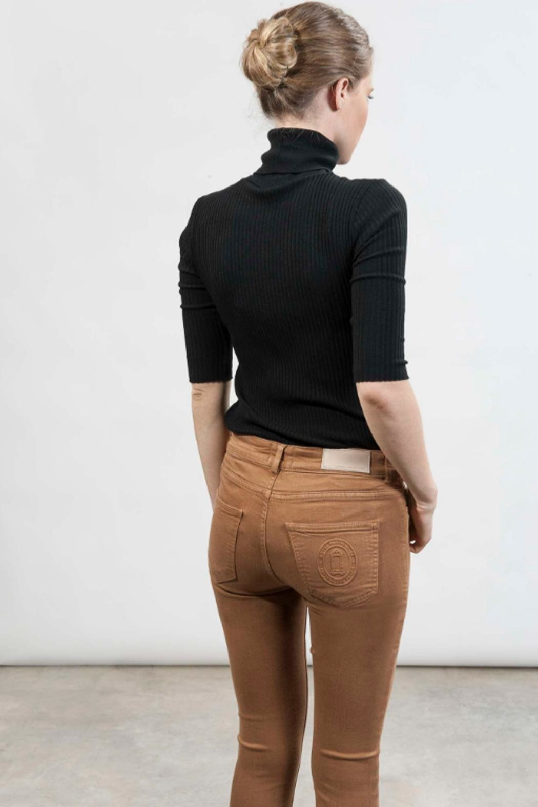 hotel particulier Camel Skinny Trousers - Side Cropped Image