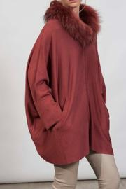 hotel particulier Fur Cardigan - Front cropped