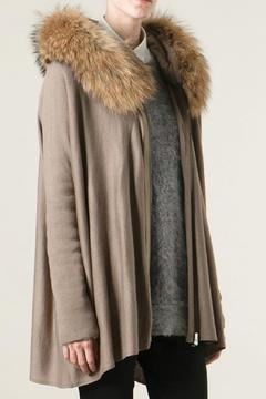 hotel particulier Fur Long Cardigan - Product List Image