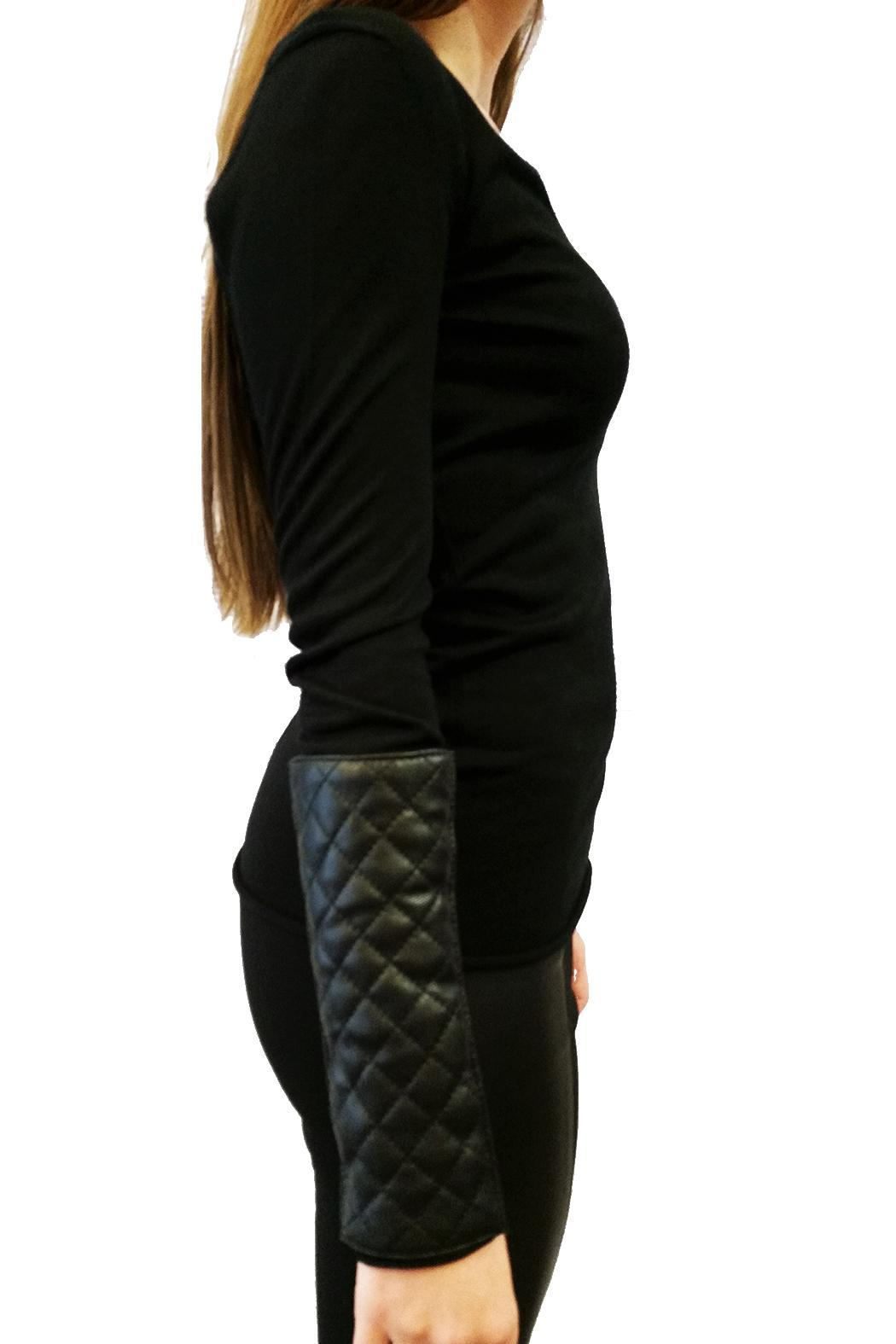 hotel particulier Leather Effect Jumper - Front Full Image