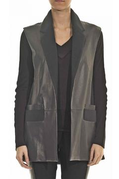 hotel particulier Leather Sleeveless Jacket - Product List Image