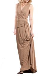 hotel particulier Maxi Draped Dress - Product Mini Image