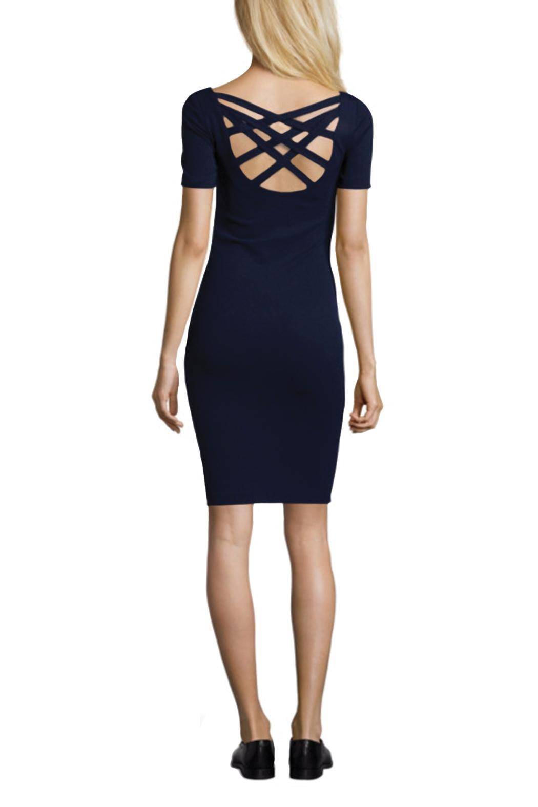 hotel particulier Navy Dress - Front Full Image