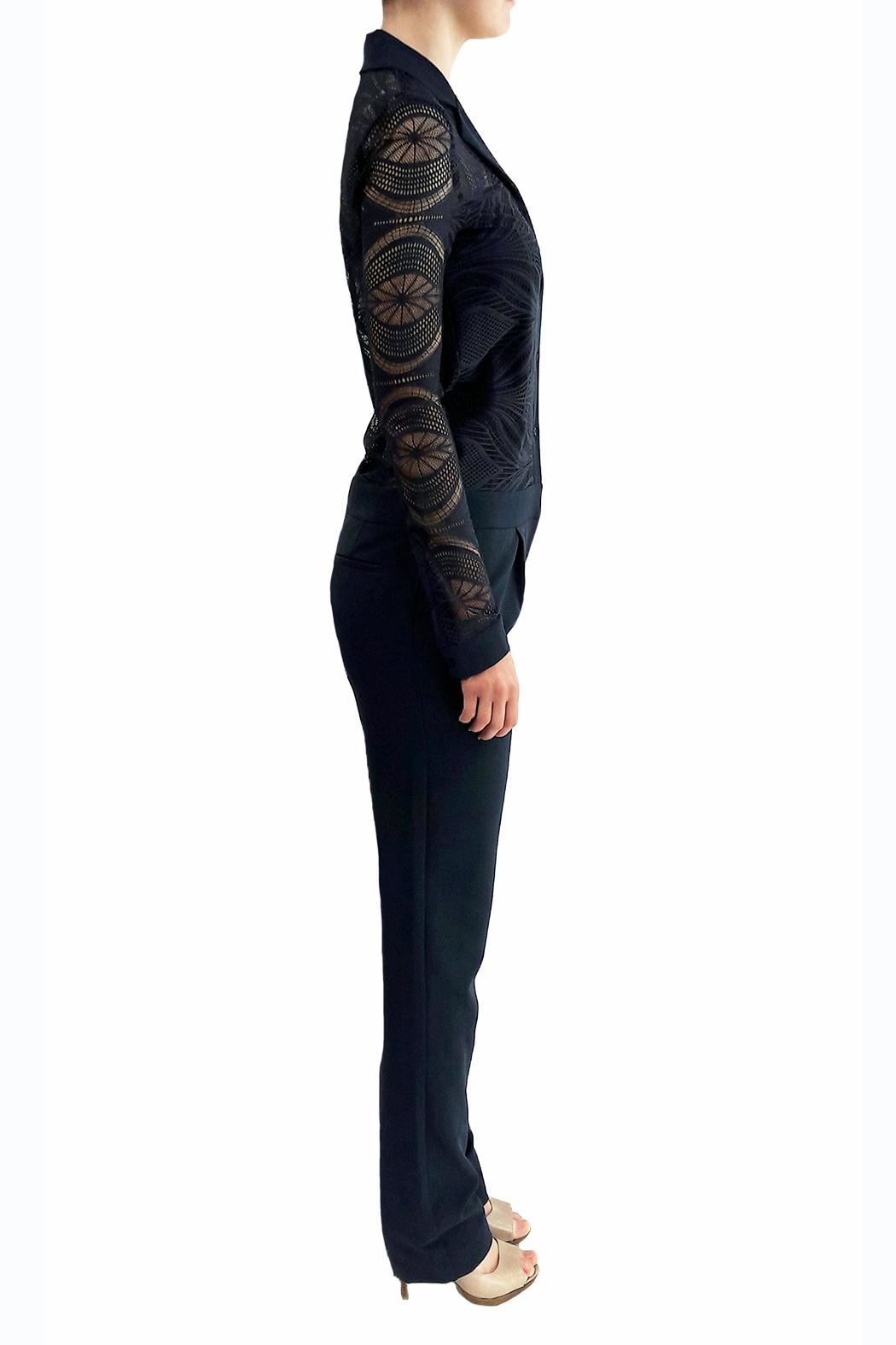 hotel particulier Navy Lace Jumpsuit - Front Full Image