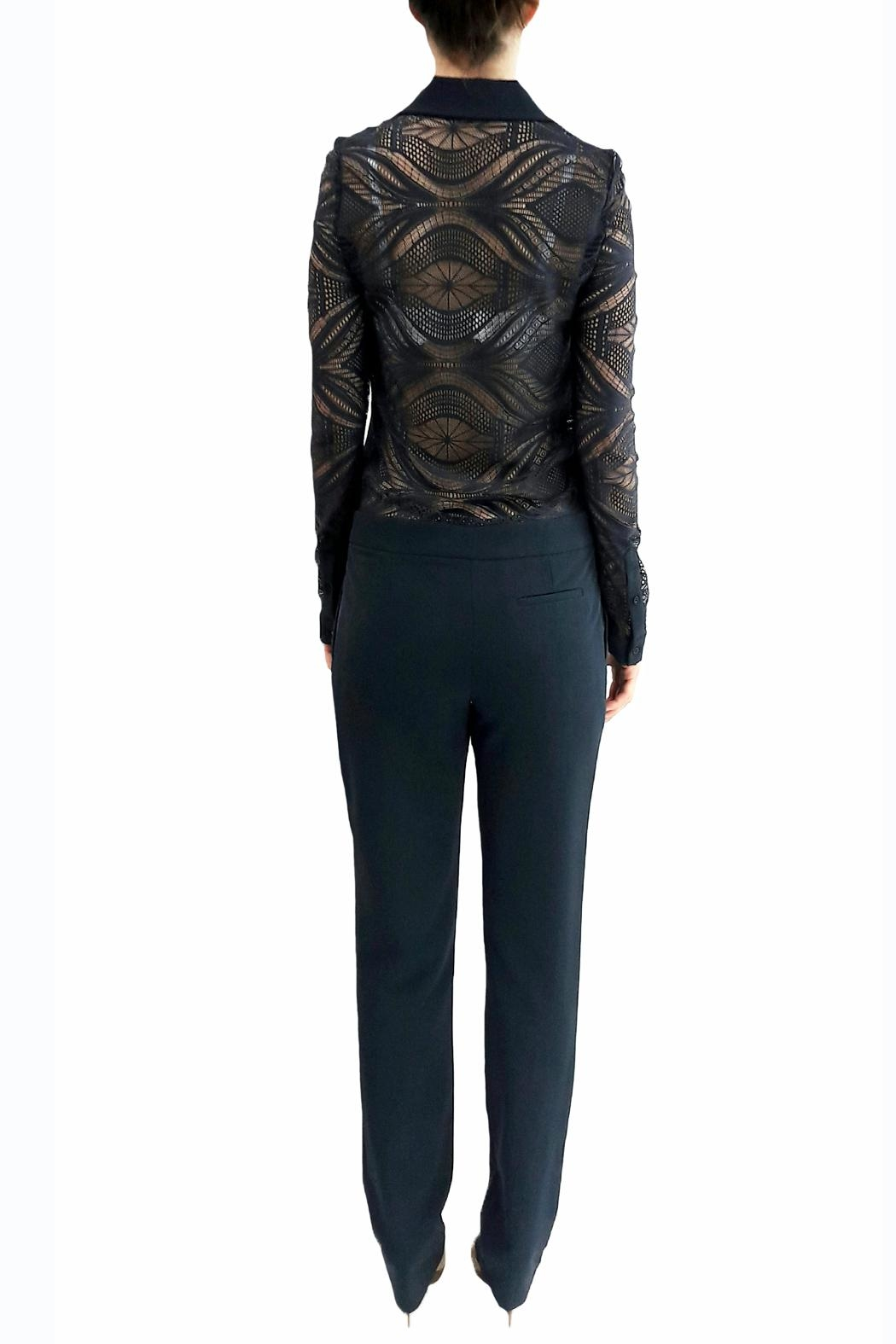 hotel particulier Navy Lace Jumpsuit - Side Cropped Image