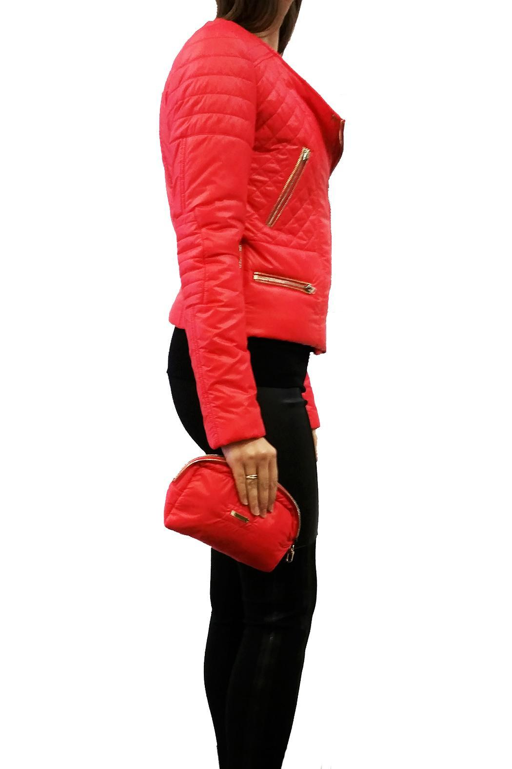 hotel particulier Red Puffer Jacket - Front Full Image
