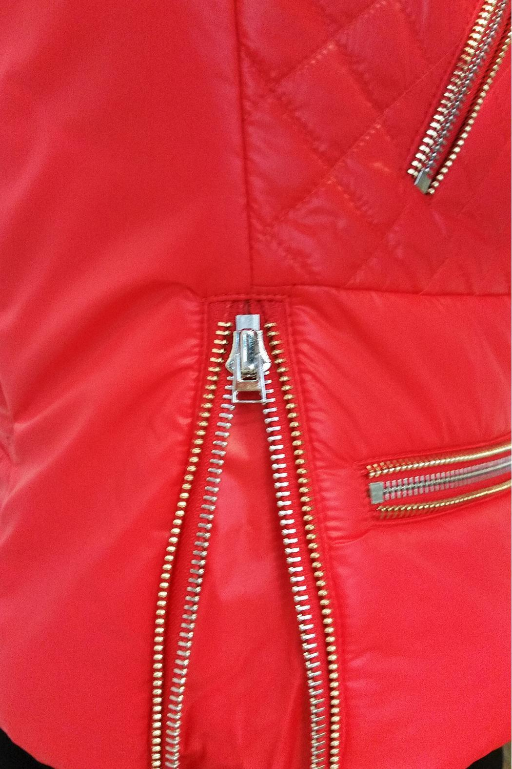 hotel particulier Red Puffer Jacket - Back Cropped Image