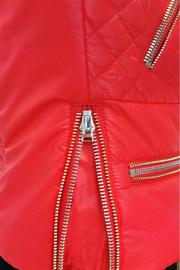hotel particulier Red Puffer Jacket - Back cropped