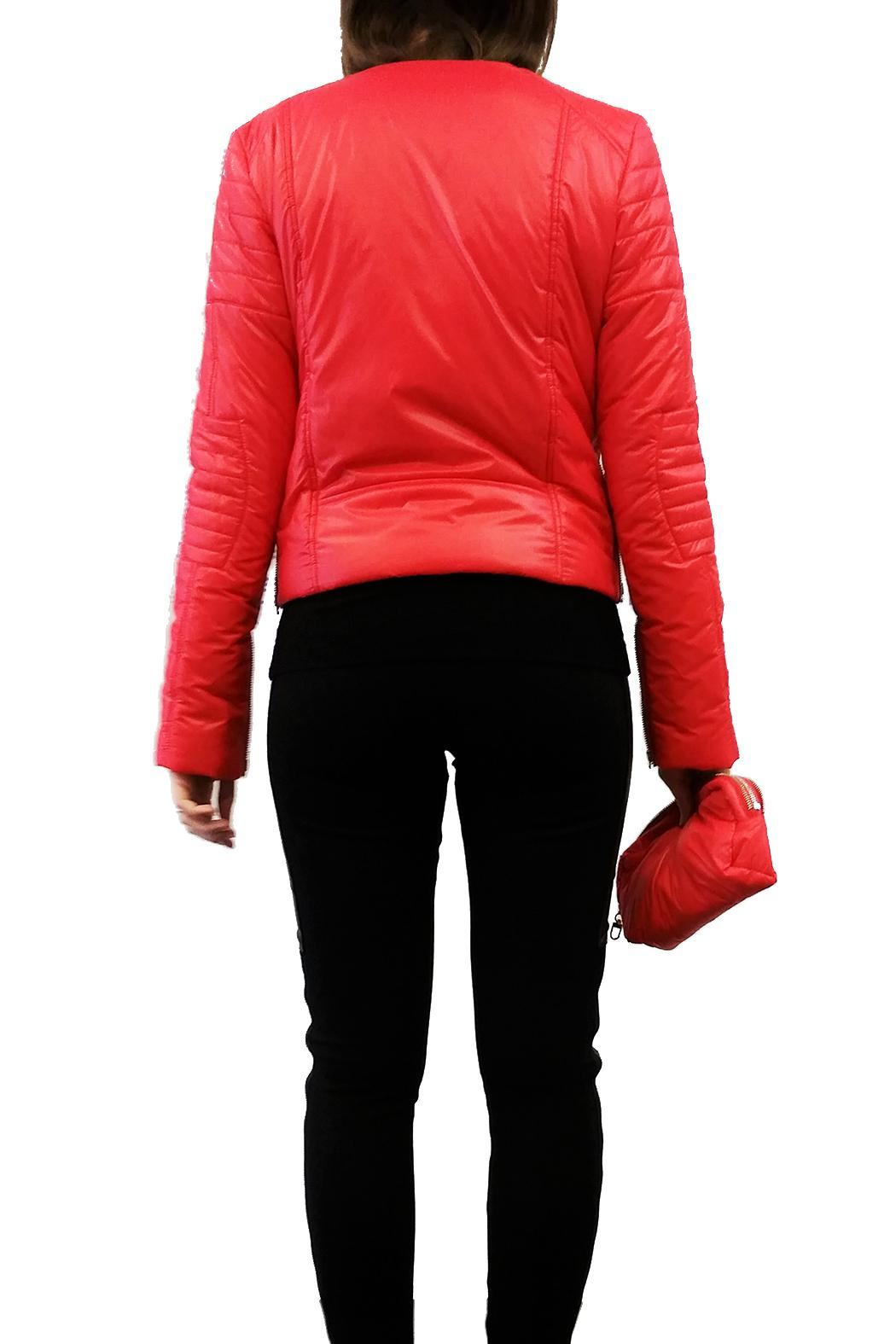 hotel particulier Red Puffer Jacket - Side Cropped Image
