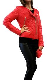 hotel particulier Red Puffer Jacket - Front cropped