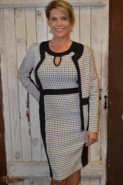Crystal Hounds Tooth Dress - Product Mini Image