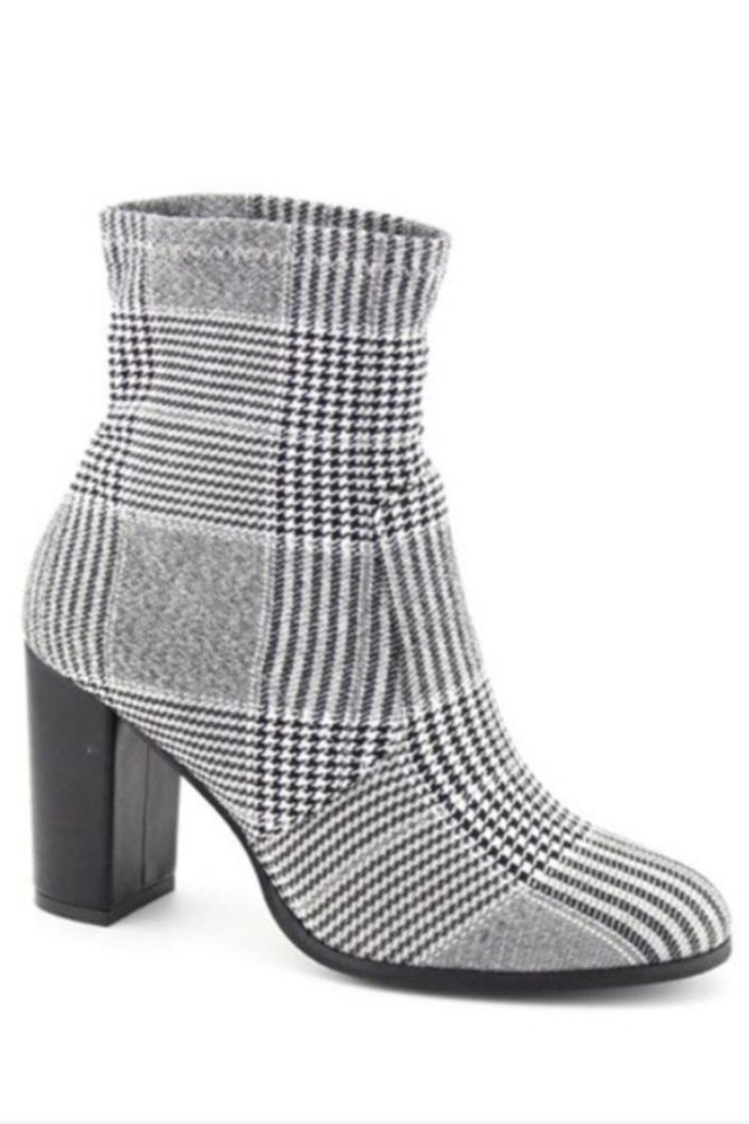 Nature Breeze Houndstooth Bootie - Front Cropped Image