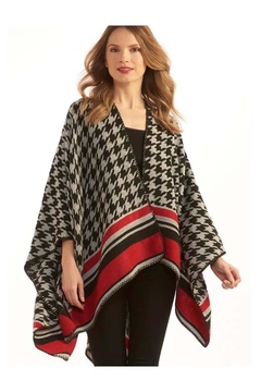 Charlie Paige Houndstooth Cape - Product List Image