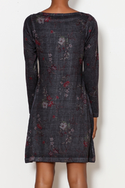 Nally & Millie Houndstooth Floral Print Dress - Back cropped