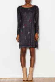 Nally & Millie Houndstooth Floral Print Dress - Front full body