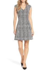 Forest Lily Houndstooth Jacquard Dress - Product Mini Image