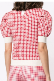 Adam Lippes HOUNDSTOOTH MERINO SWEATER - Front full body