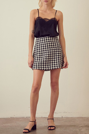 storia Houndstooth Mini Skirt - Front cropped