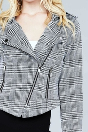 Active USA Houndstooth Moto Jacket - Side cropped