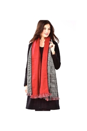 Charlie Paige Houndstooth/red Reversible Scarf - Product Mini Image