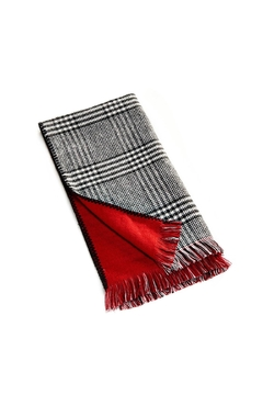 Charlie Paige Houndstooth/red Reversible Scarf - Alternate List Image