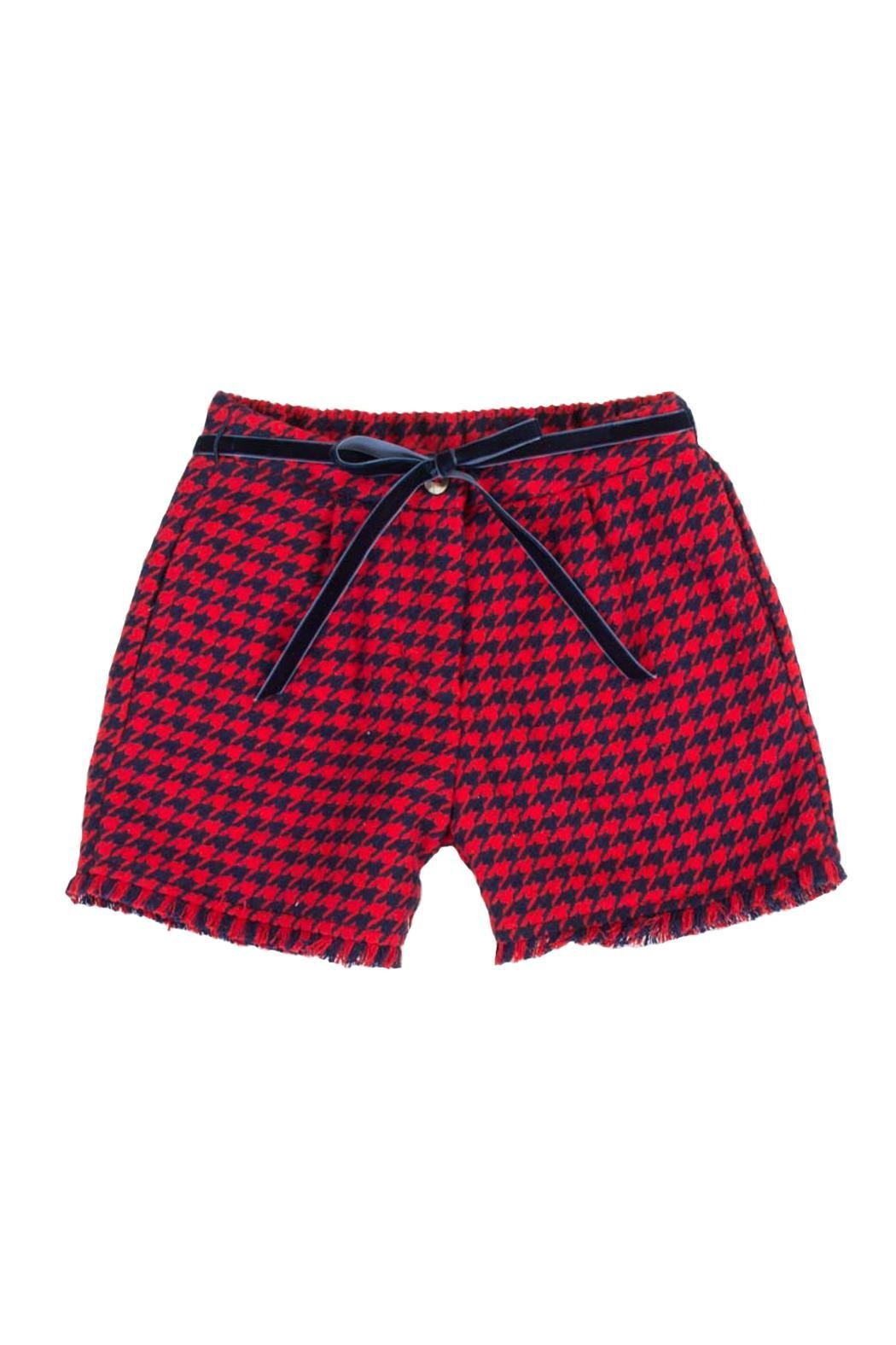 Malvi & Co. Houndstooth Shorts. - Front Cropped Image