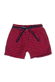 Malvi & Co. Houndstooth Shorts. - Front cropped