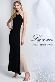 Frank Lyman Hourglass Illusion Dress, Black/Nude - Front cropped
