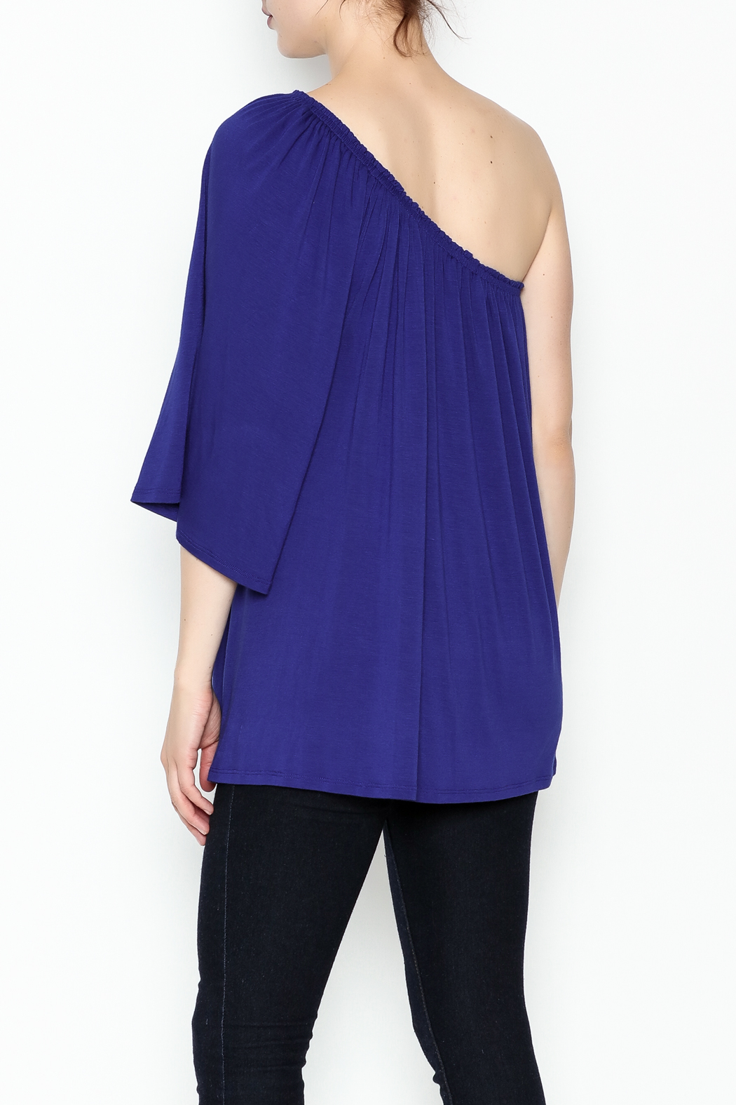Hourglass Lilly One Shoulder Top - Back Cropped Image